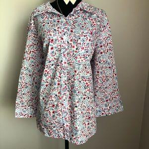 Karen Scott Woven Shirt 2X NWT